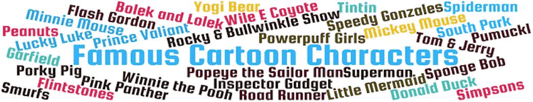 famous cartoon characters