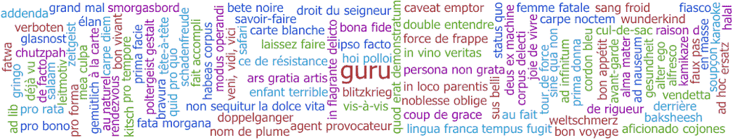 common foreign words in english