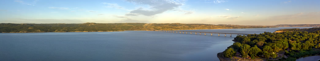 Missouri river, one of the longest rivers in USA & Canada