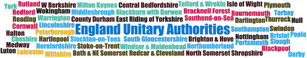 England unitary authorities